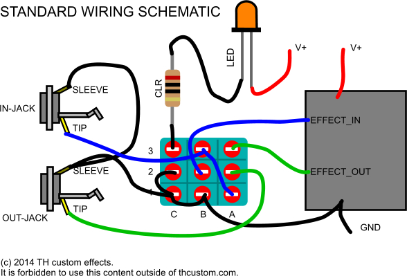 th custom effects standard wiring schematic switching mechanical switches & standard wiring diagrams th 3pdt switch wiring diagram at mr168.co