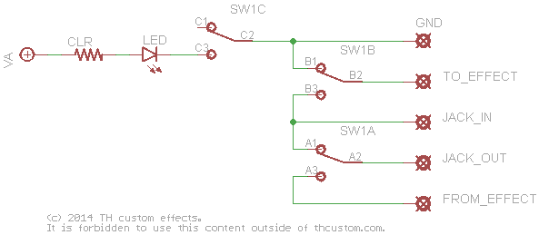 true bypass switch wiring diagram switching mechanical switches standard wiring diagrams th true bypass schematic