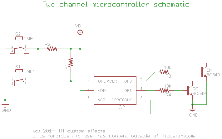Switching: Relay True-Bypass – Circuits using a
