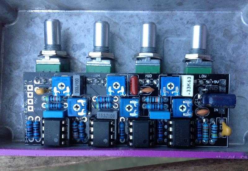 3-band parametriq EQ (slim) – PCB